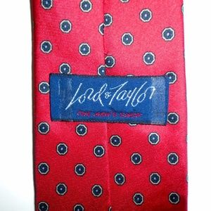 Lord & Taylor Mens Silk Made in Englad Classy Luxu